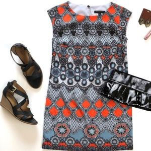 {BR} Medallion Print Sheath Dress